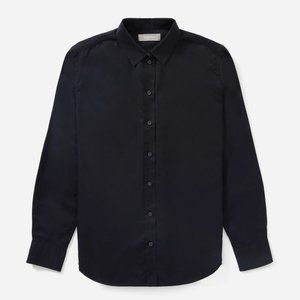 Everlane Silky Cotton Relaxed Black Buttonup Shirt